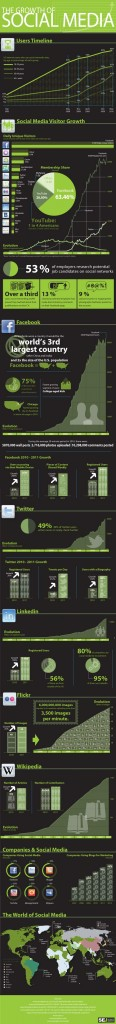 The Growth of Social Media [Infographic]