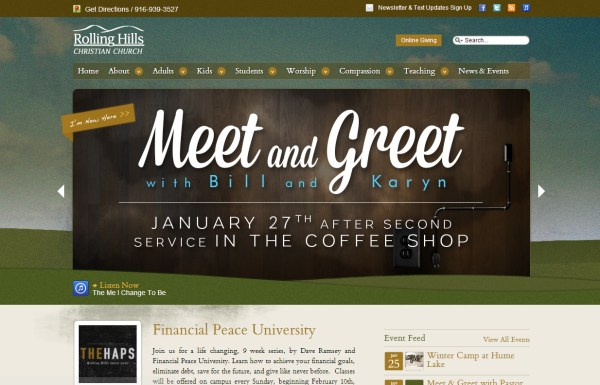 pretty church website - Church Website Design Ideas