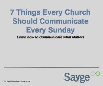 Free eBook – 7 Things Every Church Should Communicate Every Week
