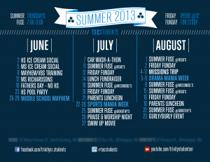 TEC Students Summer 2013 Calendar
