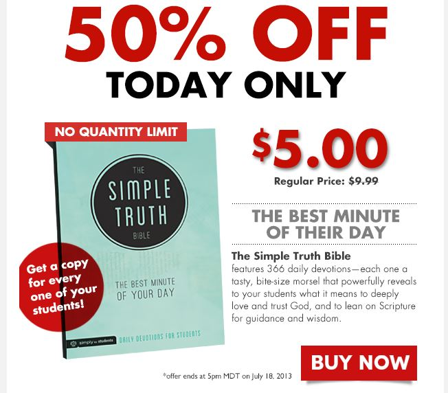 TODAY ONLY: 5 bucks for 366 Student Devos