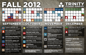 Free Youth Ministry Calendar photoshop template