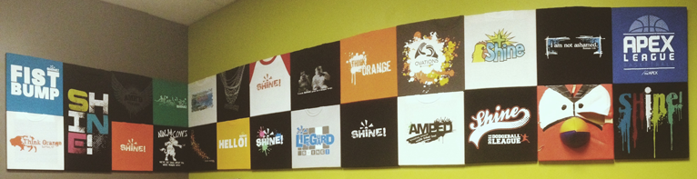 HOW TO   Make Your Own T-Shirt Wall - Ministry Feeds