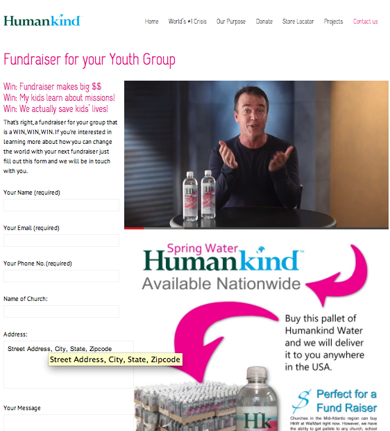 Fundraising Opportunities with Humankind Water