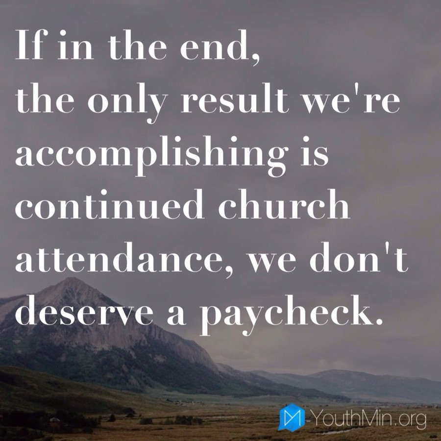 Church attendance isn't enough