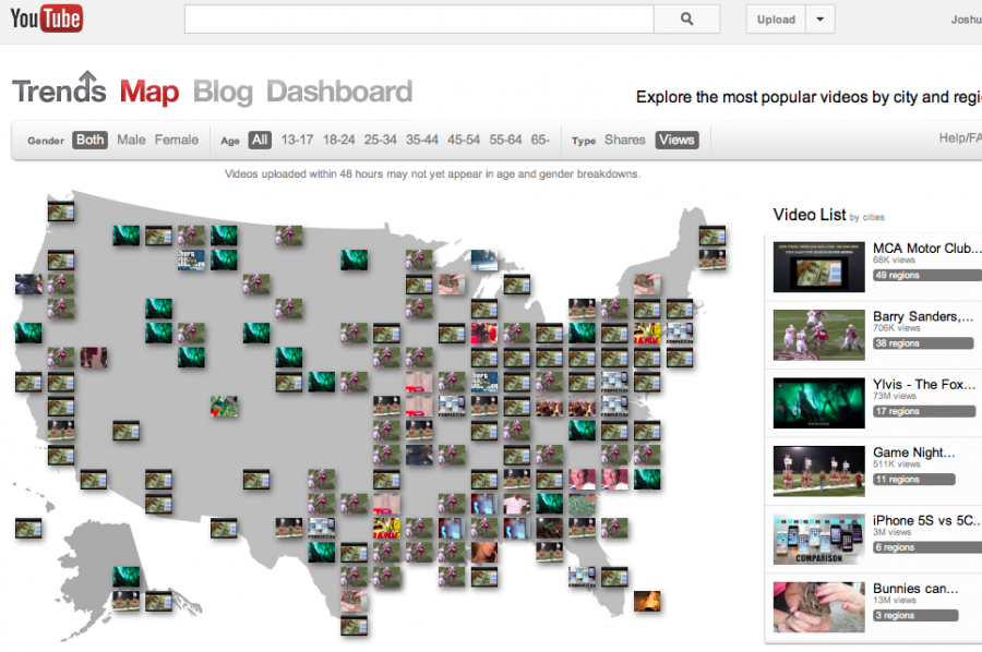 The Fox Video + YouTube Trends Map