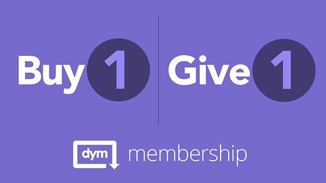 Buy 1, Give 1 DYM Monthly Membership