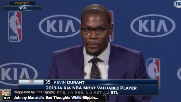 MVP Kevin Durant Powerfully Thanks His Mom