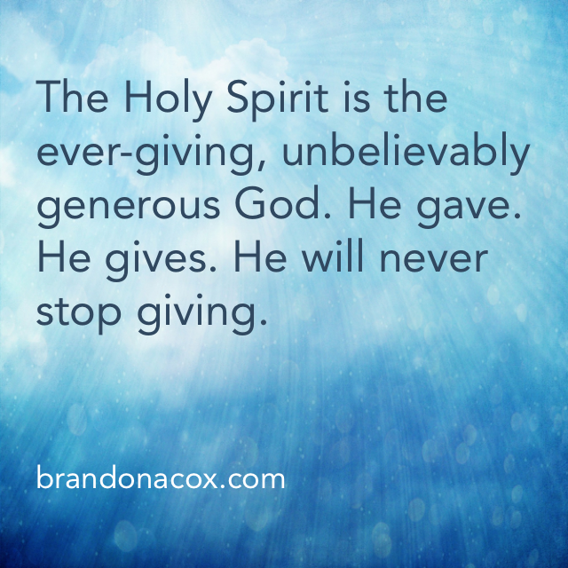 Generosity, Empowered by the Holy Spirit