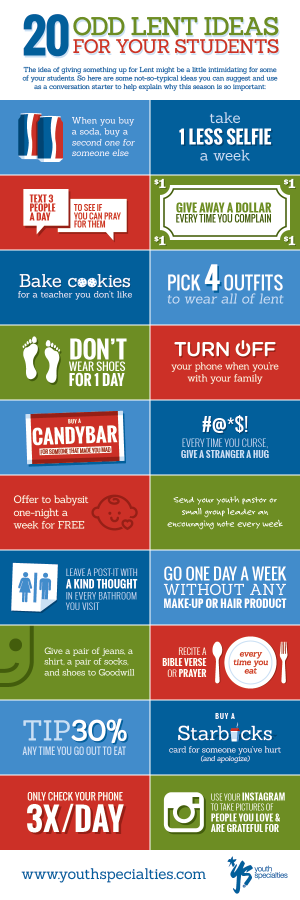 20 Odd Lent Ideas For Your Students [Infographic]