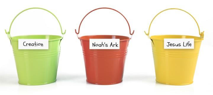 Bible Buckets for Toys