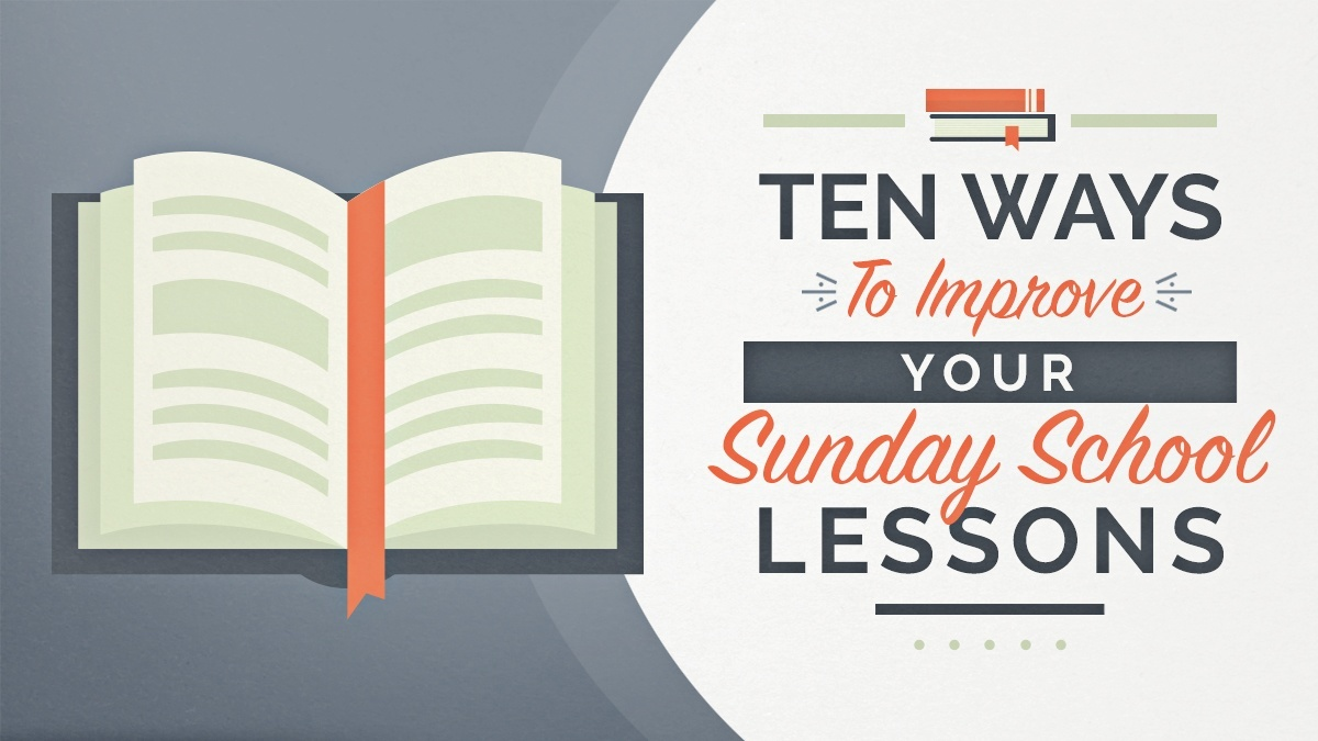 Improve your Sunday School Lessons Image