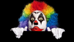 """FREEBIE: """"Creepy Clowns Add Fright to Halloween"""" Discussion Starter"""