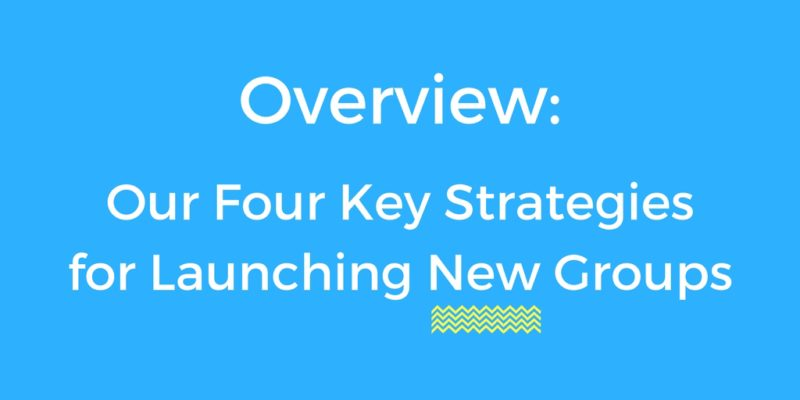 Overview: Here Are Our Four Strategies for Launching New Groups