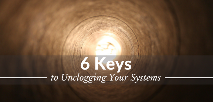 6 Keys to Unclogging Your Systems