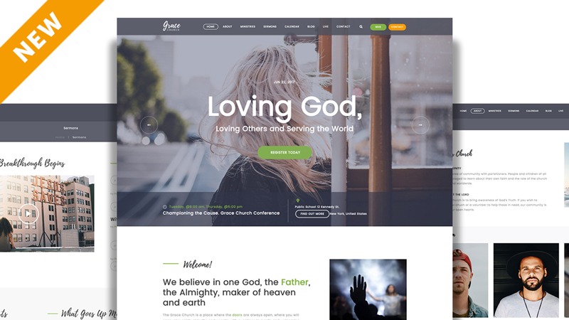 New Church Website Template From Sharefaith Church Websites